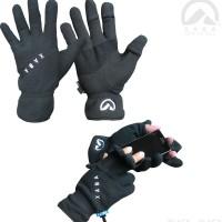 Sarung tangan outdoor bahan polar u/ kegiatan luar alam.