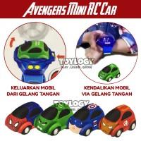 Mini RC Car Mobil Radio Remote Control Avengers Hulk Spiderman Ironman