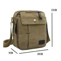 tas selempang canvas / kanvas pria sling bag