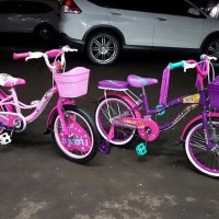 Sepeda Mini Paris or Venice roda 18 inch untuk anak perempuan 4 5 6