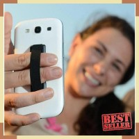 Holder Smartphone Jari Anti Slip-Hitam