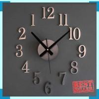 Jam Dinding DIY Giant Wall Clock 25cm Diameter-Silver 879ef1bb03