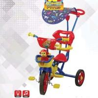 Sepeda Anak Roda Tiga PMB Monkey 1-3 Tahun Musik Tongkat Tricycle 922