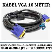KABEL VGA 10 METER - VGA to VGA D-Sub Male to Male - High Quality