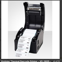 Xprinter Xp 360b printer yang dapat mencetak atau print sticker label
