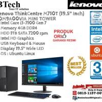 """LENOVO M710T MT ThinkCentre Core i3-7100/4GB/1TB/DOS+19.5"""""""