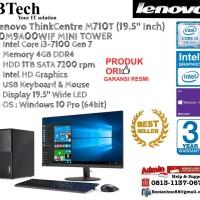LENOVO M710T MT ThinkCentre Core i3-7100/4GB/1TB/Win10Pro+19.5