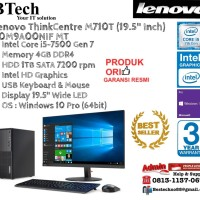 """LENOVO M710T MT ThinkCentre Core i5-7500/4GB/1TB/Win10Pro+19.5"""""""