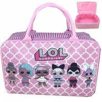 travel bag super kanvas karakter LOL(tas koper jinjing)