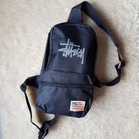 Stussy Men Troops Canvas Body Bag Original / Tas Selempang Cowok Pria