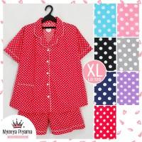Piyama Celana Pendek Hotpant XL Jumbo Dewasa Baju Tidur Katun 04