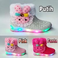 Sepatu LED anak perempuan / Sepatu lampu boots cantik
