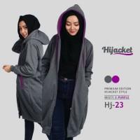 Harga size xl jaket hoodie premium hijabers misty purple hijacket | Pembandingharga.com