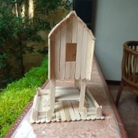 Prakarya Maket Miniatur Rumah Adat Sasaklombok Dari Stik Es Krim