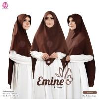 KHIMAR EMINE XL BROWN COKTU YASMEERA Bahan Arabian Crepe Zuhair Mura