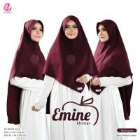 KHIMAR EMINE XL MAHOGANY YASMEERA Bahan Arabian Crepe Zuhair Mura