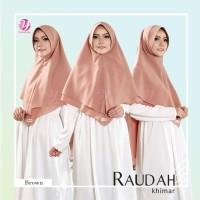 Khimar Syari model penguin diamond 2 layer RAUDAH BROWN YASMEERA