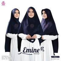 KHIMAR EMINE XL NAVY YASMEERA Bahan Arabian Crepe by Zuhair Mura