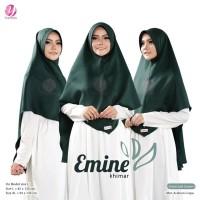 KHIMAR EMINE XL EMERALD GREEN YASMEERA Bahan Arabian Crepe Zuhair Mura