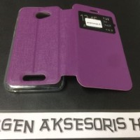 Flip Cover Andromax A Smartfren Leather Case Sarung HP