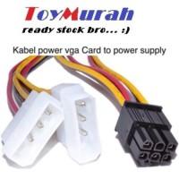 Terlaris Termurah Kabel Konektor Converter Power Vga 6 Pin 6Pin To 2