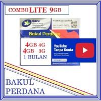 Kartu Sakti Perdana Internet XL COMBO LITE 9GB FREE PULSA YOUTUBE
