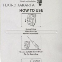 Terlaris Tekiro Obeng Listrik Elektrik Insulation Screwdriver Limited