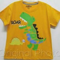 Kaos Anak Size 1-6 Oshkosh Dino T-Rex Roar Kuning |Kaos Karakter Anak