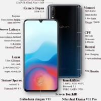 Best Seller Hp Smartphone Vivo V11 Pro Ram 6Gb /64Gb Garansi Resmi