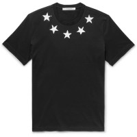 GIVENCHY SLIM FIT STAR EMBROIDERED TSHIRT ORIGINAL | GIVENCHY ORIGINAL