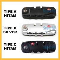 Kunci Koper TSA Kode Kombinasi Tas Bagasi Code Sparepart Pin 3 Digit