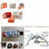 KOMPOR SET CAMPING GAS LIPAT MINI STOVE ULTRALIGHT ORIGINAL FIRE MAPLE