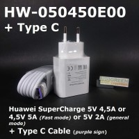 SuperCharge Fast Charger Huawei Original 4,5V 5A or 5V 4,5A Ori 100%