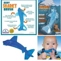 BABY SHARKY BRUSH FIRST TEETHING TOITHBRUSH FOR INFANT UP TO 24MONTHS