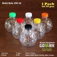 Botol PET Bola 250ml + Botol Plastik Bola 250ml Botol PET Bola - Biru Muda