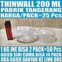 Mangkok Plastik 200 ml Tempat Kotak Makan Nasi Cup Puding Thinwall