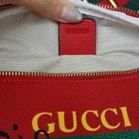 ORI LEATHER TAS GUCCI PINGGANG WAIST BAG SEMI ORI