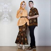 Baju Couple Batik Modern / Kebaya Pasangan Remaja CP Annia Mustard