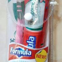 Sikat Gigi dan Pasta Gigi khusus pengguna kawat gigi Behel . Formula