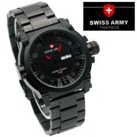 ... Jam Tangan Swiss Army SA 7169 Stainless Black Red Jam Pria Murah Gaya