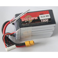 Wild Scorpion 1500mah 6s 22.2v 90c Lipo Battery
