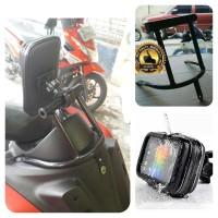 paket breket dan holder hp anti air yamaha nmax