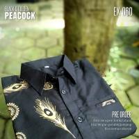 SERAGAM BATIK   Baju Batik Kombinasi HITAM EMAS   Batik Kerja