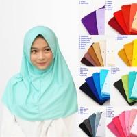 Hijab Instan najwa Jilbab Instan Polos Kaos Katun TC Kerudung Khimar