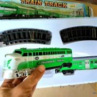 Mainan Anak - Kereta Api Set - Classic Train Playset Green