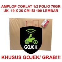 Amplop Coklat 1/2Folio (19x25cm)