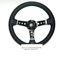 Stir Steer Racing Mobil Universal Momo 14inch Model S.P.A.R.C.O Hitam