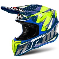 READY STOCK Helm AIROH TWIST IRON BLUE Motocross MX !!