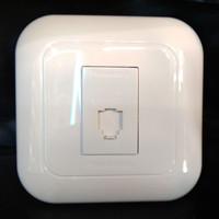 Panasonic jack modul telp/SOCKET TELP+FRAME/COLOKAN TELP/WEJ2164 CAT5