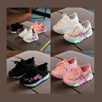 Sepatu Lampu Led Anak Perempuan Japan Bunga Sakura Flower (ZH-SS010)
